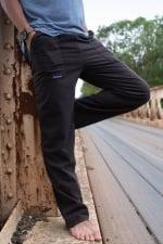 Pantalon maron en Coton fluide
